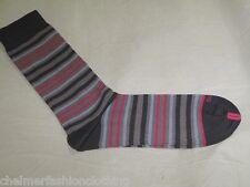 BNWOT -  DUCHAMP LONDON Fine Egyptian Cotton Mens Striped Socks  Grey