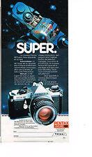 PUBLICITE ADVERTISING 044   1980   PENTAX  appareil photo ME SUPER