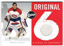 2000-01 UD Vintage Original 6 Jose Theodore Game Worn Jersey Relic Canadiens
