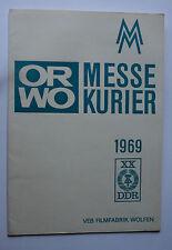 Sammlungsauflösung Prospekt Katalog: ORWO Messekurier 1969