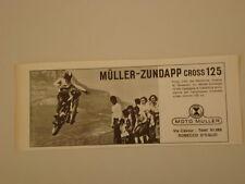 advertising Pubblicità 1972 MOTO MULLER CROSS 125