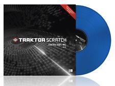 Traktor Scratch Control Vinyl mk2 MKII Blue timecode DJ pro2 duo2 NEW