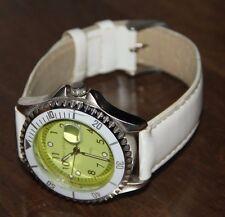 Bergmann Uhr weißes Lederband Armbanduhr