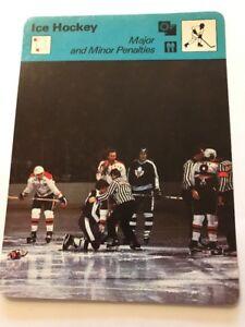 Sportcaster Rencontre Sports Card - Ice Hockey - Major And Minor Penalties !!