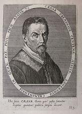 CLEMENS AMMON ´CESARE CREMONINI (1550-1631) PHILOSOPH; GALILEO ´ (DE BRY) ~1660