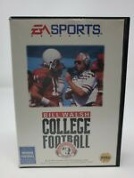 Bill Walsh College Football 95 for the Sega Genesis box and cart w/board pics