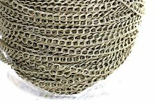15ft Antique bronze 5x6mm Double Chain 1-3 day Ship