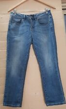ESPRIT Designer Label Womens Ladies Worn Faded High Rise Blue Denim Jeans
