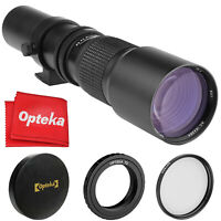 Opteka 500mm f/8 Telephoto Lens for Nikon D750, Df, D610, D600, D500, D300, D200
