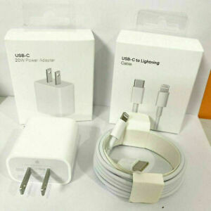 For iPhone 13 Pro Max 12 11 iPad Fast Charger 20W PD Cable Power Adapter Type-C