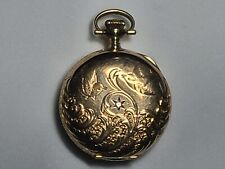 Yellow Gold Safety Barrel No Res! * * Victorian Elgin Ladies Pocket Watch 14K