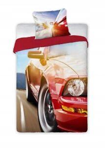 Car Boys Bedding Duvet Cover Set Pillow Cover Single Size 100% COTTON