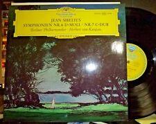 SIBELIUS Symphonies 6 & 7, VON KARAJAN, Berliner Phil.  LP NM/NM DGG TULIPS
