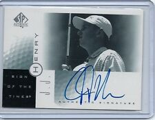 2001 SP Authentic GOLF Sign of the Times AUTOGRAPHS Your Choice HENRY Hensby +
