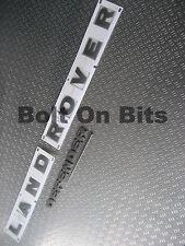 3D Lettering LANDROVER for Bonnet & Rear DEFENDER with SWOOSH Badges Brunel GREY