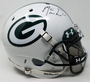 """AARON RODGERS Autographed """"XLV MVP"""" White Hydro Dipped Helmet STEINER LE 1/12"""