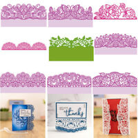Lace Edge Frame Cutting Dies Metal Stencil for DIY Scrapbooking Handmade Cards