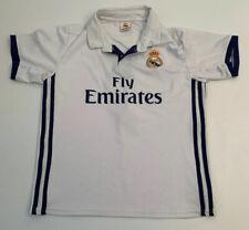 Real Madrid Boy's Sz 26 #7 Cristiano Ronaldo Replica Soccer Jersey Fly Emirates