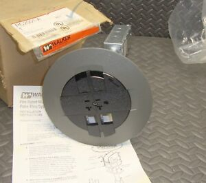 NEW Walker RC2001-A Assembled Gray Prewired Receptacle 15 Amp Wiremold J Box