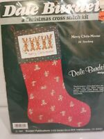 "Dale Burdett Merry Chris-Moose Cross Stitch 16"" Stocking KitNIP Ships FREE"