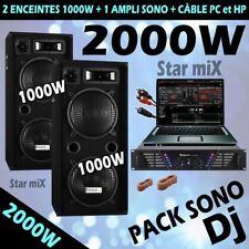 SONO 2000W AMPLI + ENCEINTES + CÂBLE ... PRIX FOU !!!