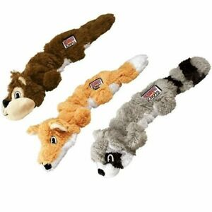 KONG Scrunch Knots Dog Toy Squeaky Soft Cuddly with Internal Rope 24cm or 38cm