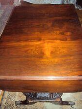 Rosewood Antique Regency Sofa table, harp end legs, drawers, drop leaves