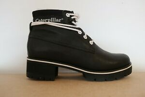 CAT CATERPILLAR WOMENS BOOTS LADIES STOPWATCH CLASSIC CASUAL BLACK LEATHER UK 5