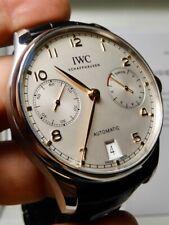 IWC Portuguese 7 day Silver with gold hands 100% LNIB 5007 Ceramic internals