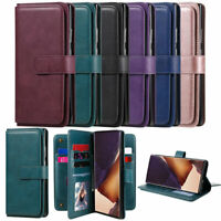 Flip Book Wallet Card Pocket Leather Stand Case Cover For Samsung Galaxy Phone