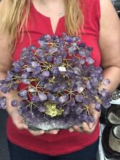 Big * Hand Made Sculpture of AMETHYST TREE * 3 Kg = 6.6 Lbs  * FREE SHIPPING