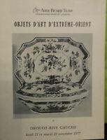 1977 Catálogo De Venta Demuestra Drouot Artículo de Arte De Extreme Orient