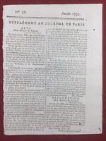 Pittore David 1791 Il ** Del Gioco Di Palma Versailles Didot Astronomia Parigi