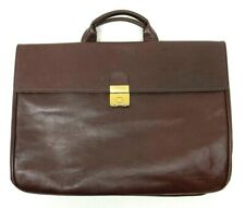 Beccaccino Attaché Briefcase Maroon Leather Bag Italy