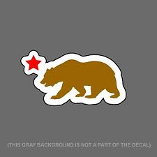 "California Bear And Star Printed JDM Racing Drifting Decal Sticker 6"" #DigiPrint"