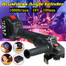 Cordless Brushless Angle Grinder 19800H 18V 100mm Cutting Grinding Tool with Box