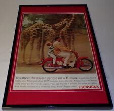 1965 Honda Motorcycle Framed 11x17 ORIGINAL Vintage Advertising Poster