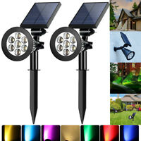 Outdoor Yard LED Spotlights Garden Landscape Lawn Decor Wall Solor Power Lights