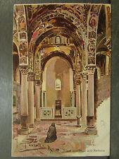 cpa italie italia palermo palerme interno chiesa martorana illustrateur  *