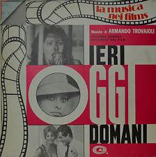 "EAST - COLONNA SONORA - IERI OGGI DOMANI - ARMANDO TROVAJOLI 12"" LP (N308)"