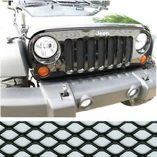 CCG 07-17 JEEP WRANGLER JK HEXAGON XXL GRILL GRILLE MESH INSERT KIT BLACK