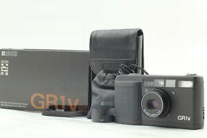 [Beste Mint Box LCD Funktioniert] RICOH GR1v DATE Schwarz 35mm Film Kamera W/