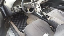 PHASE 2 RACE FLOOR CARPET MATS FOR NISSAN S13 240SX LIGHT WHITE DARK GRAY