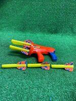 Vintage - 1993 Kenner NERF Missilestorm Dart Gun with 4 Original Darts - WORKING