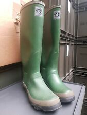 Vintage Old Stock GREEN BTR Super Lincoln Wellingtons Wellies Rubber Boots UK 6
