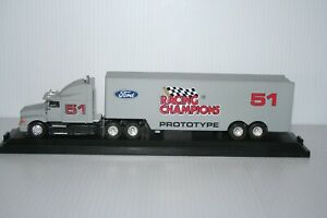 Racing Champions 1:64 Ford Tractor & Trailer Team Transporter Diecast Premier Ed