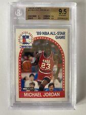 1989-90 Hoops #21 Michael Jordan  BGS 9.5 X 3 Gem Mint Bulls All Star HOF 10