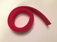 "Firm Red Felt for Piano Repair, 32""x1 1/8""x3/16"", Grand Key Tails, Damper Lifter"