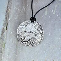Creative Wild Wolf Animal Pattern Man Necklace Pendant Fashion Jewelry Gift