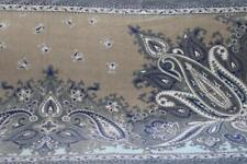 SOHO LIVING PAISLEY FLORAL BATH SHEET TOWEL(s) - PURPLE/AQUA/GRAY/TAN 33x64 NEW